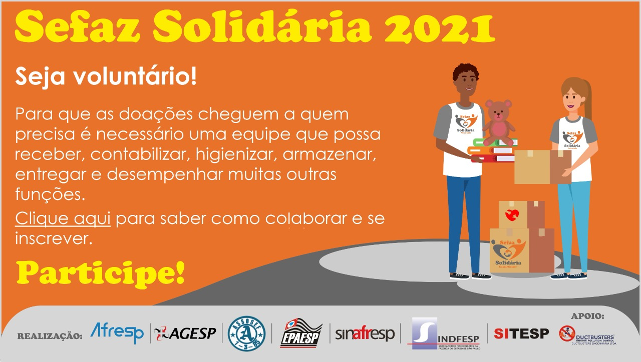 DUCTBUSTERS apoia a campanha Sefaz Solidária